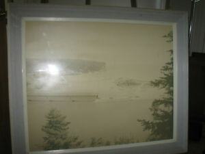 Old FRAMED AERIAL PHOTOGRAPH...[PERHAPS BLOMIDOM ?]