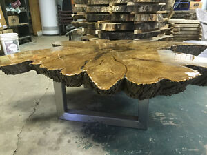 Slab wood buy sell items tickets or tech in brantford for Finishing live edge wood