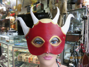 HANDMADE LEATHER MASKS MADE BY BRUCE HARDY