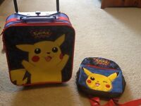 Pokemon Kid's Travel bag and small backpack