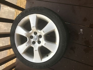 4 Toyota 17 inch rims and summer tires