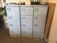 Filing cabinets - 4 drawers, lockable