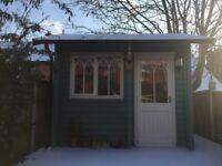 "Homestead ""Marlow"" 5m x 3,10m summer house, studio, wood cabin, office, workshop"