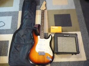 Renegade Electric guitar (Bag) with AMP and Boss Distortion