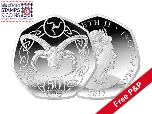 2017 Isle of Man Manx Loaghtan Ram 50p Decimal Coin (AH35)