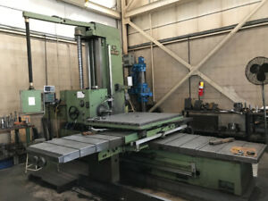 Union BFT 90 Horizontal Boring Mill with Facing Head and DRO