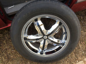 18 inch chrome wheels  - 85%  tires ** set of 4 * UNIVERSAL RIMS