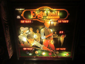 Wanted: 1985 Bally Eight Ball Champ Pinball Machine