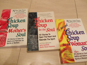 CHICKEN SOUP FOR THE SOUL - SET OF 3 BOOKS