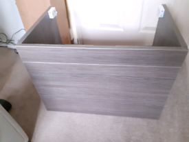 Bathroom vanity wall hung cabinet