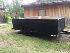 12' light duty utility trailer with sides and rear gate