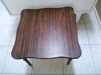 Small Square End Table or Vanity Stool - wood