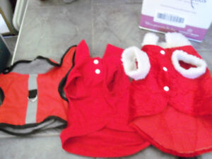 Dog Coats/ toys/leashes etc./brushes & clippers/doggy bags