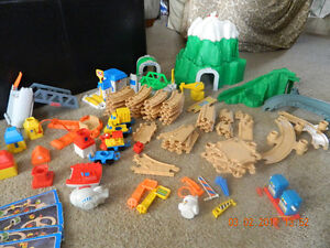1990s Fisher Price Flip Track Mountain Playset
