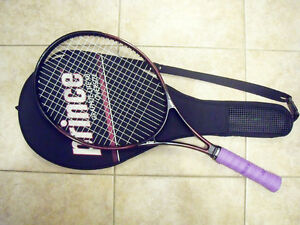 New String Grip Prince Graphite Lite XB Oversize Tennis Racquet