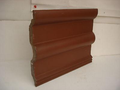Beton Dachpfanne Braas Frankfurter in braun,33 x 41,5 cm für Deko zum bemalen