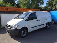 2012 61 MERCEDES BENZ VITO 2.1 CDI 113 150PS LONG LWB ONLY 1 OWNER 58K WHITE