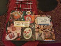Cross Stitch Books hard cover x2