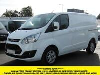 2015 FORD TRANSIT CUSTOM 270/125 LIMITED L1H1 SWB DIESEL VAN IN WHITE WITH AIR C