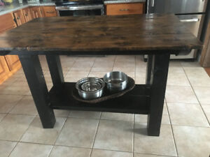 Rustic kitchen Island-$350 or $425 with stools