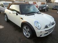 2007 Mini 1.6 ( 116bhp ) Cooper Convertible in White 70K FSH Excellent Condition