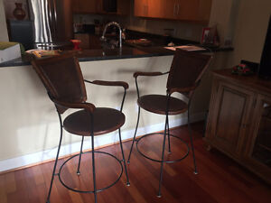 Wicker Bar Stools (2)
