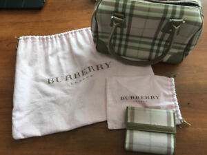 Burberry handbag and wallet