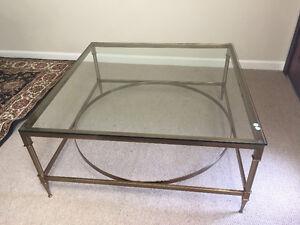 Beautiful brass/glass coffee table retails $4,000