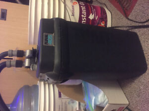 Canister filter , fluval 105 saltwater tank