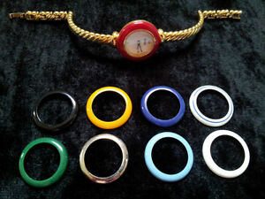 Alfex Ladies Watch with 9 Colour Rings / Swiss Movement London Ontario image 1