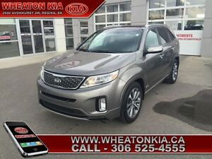 2015 Kia Sorento SX  - one owner - local - trade-in - sk tax pai