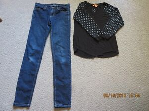 Girl's large or ladie's small Joe jean's & shirt $10.00