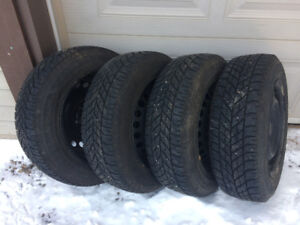 Goodyear winter tires on rims