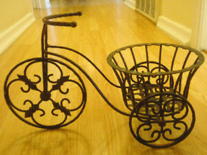 Wrought iron plant stand decor