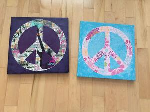 peace decor for girls room