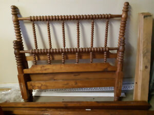 Antique Spool Twin Bed Frame (No Mattress): FIRM: $100.00
