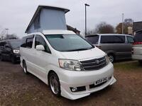 TOYOTA ALPHARD 4 BERTH CAMPERVAN WITH REAR CONVERSION