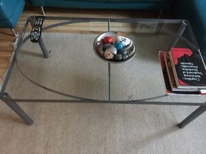 Glass table modern design