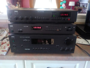 NAD,  pro logic amp and Tuner.   PSB speakers [old]