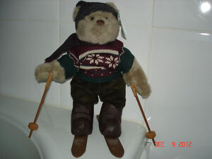 BRAND NEW WITH TAGS RUSS CHRISTMAS TEDDY BEAR - ALPINE LODGE