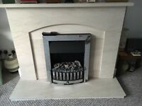 Electric Optimyst fire and surround for sale