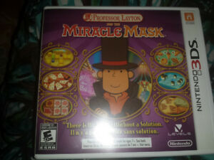Rare Professor Layton Miracle Mask 3DS game complete in case