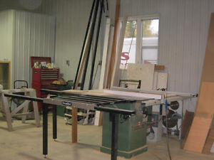 Excalibur sliding table for wood working shop