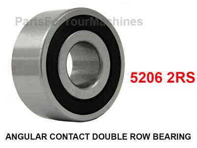 1 5206 2rs Angular Contact Double Row Bearing 5206 2rs 30mm X 62mm X 23.8mm