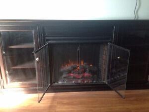 Electric fireplace in espresso cabinet  SAVE OVER $1,700 Edmonton Edmonton Area image 1