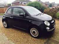 Fiat 500 Lounge 1.2 Black 3dr (start/stop) with City Mode & Sunroof
