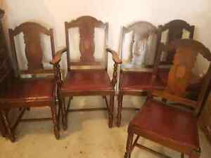 Antique 1800' Highback Chairs