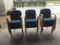 Green reception chairs