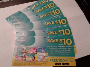 Lots to pampers coupons for trade