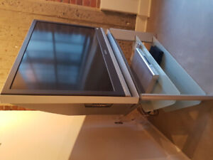 "LCD Projection Sony 42"" TV with HDMI, DVD player, stand/meuble"